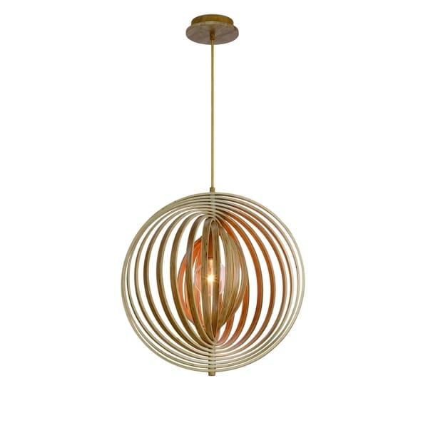 Eurofase Abruzzo Sleek Retractable Wood Medium Light Pendant - 31873-017