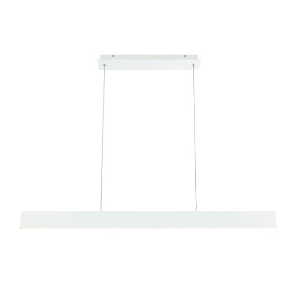 "Eurofase Rogers Large LED Pendant, White Finish - 31447-010 - 3.25"" high x 46"" long x 0.5"" wide"