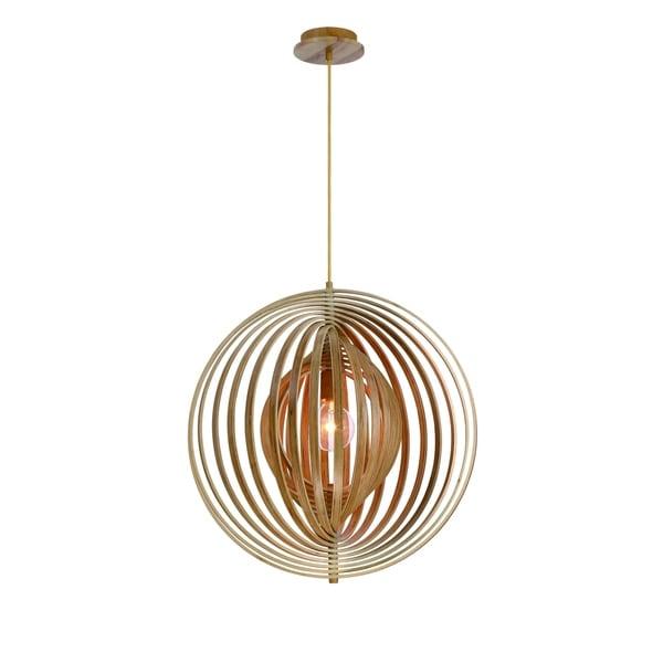 Eurofase Abruzzo Sleek Retractable Wood Large Light Pendant - 31872-010