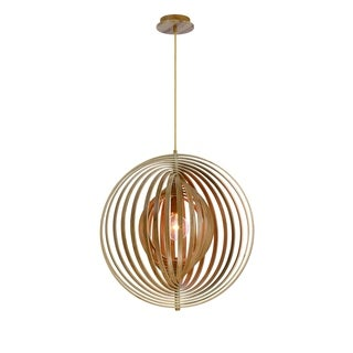 Eurofase Abruzzo Sleek Retractable Wood Large Light Pendant - 31872-010