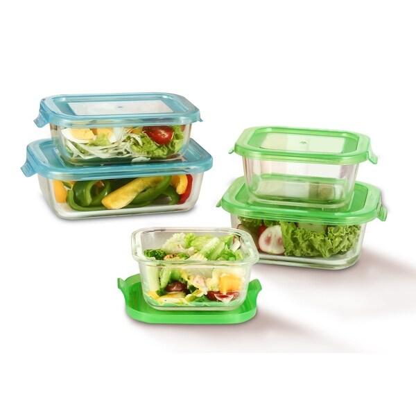 Diamond Home GlassFresh Food Storage Container Set