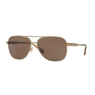 Brooks Brothers Mens's BB4042S 167773 60 Sand/Lt. Brown Horn Plastic Aviator Sunglasses