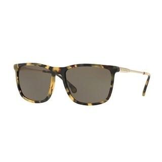 Brooks Brothers Mens's BB5033S 61253 57 Matte Spotty Tort/Gold Metal Square Sunglasses - Grey