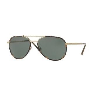 661c5188c1f Shop Burberry Mens s BE3091J 11675U 58 Dark Havana Metal Aviator Sunglasses  - Green - Free Shipping Today - Overstock - 17910931