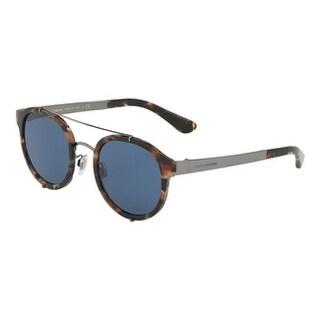 Dolce & Gabbana Oversized Dg2184 314580 Mens Blue Frame Blue Lens Sunglasses