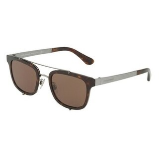 Dolce & Gabbana Oval Dg2175 502/73 Mens Havana Frame Brown Lens Sunglasses