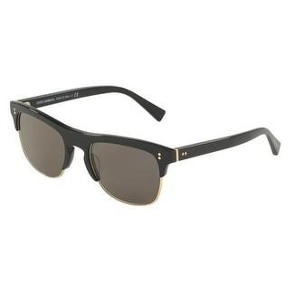 2ea75e88c85 Shop Dolce   Gabbana Rectangle Dg4305F 501 R5 Mens Black Frame Grey Lens  Sunglasses - Free Shipping Today - Overstock.com - 17910983