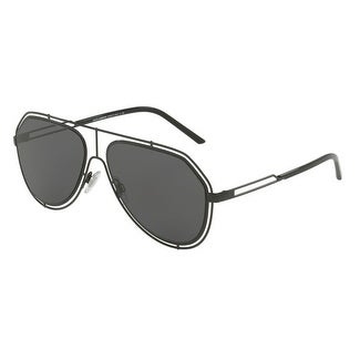 962d0855a3a8 Shop Dolce & Gabbana Aviator Dg2176 31778 Mens Black Frame Grey Lens  Sunglasses - Free Shipping Today - Overstock - 17911008