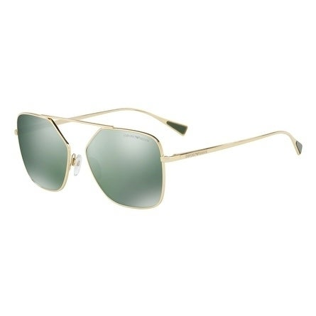 7b47bedf661d Shop Emporio Armani Square Ea2053 30136R Mens Gold Frame Green Lens  Sunglasses - Free Shipping Today - Overstock - 17911014