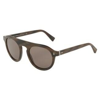 85057641e9da Shop Dolce   Gabbana Round Dg4306 31184R Mens Purple Frame Brown Lens  Sunglasses - Free Shipping Today - Overstock.com - 17911015
