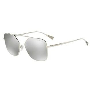 Emporio Armani Mens's EA2053 30156G 56 Light Grey Mirror Silver Square Sunglasses