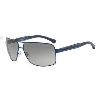 Emporio Armani Mens's EA2001 318811 64 Grey Gradient Plastic Rectangle Sunglasses