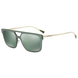 76d2e2e97973 Shop Emporio Armani Mens s EA2048 30136R 43 Light Green Mirror Petrol  Rectangle Sunglasses - Free Shipping Today - Overstock.com - 17911033