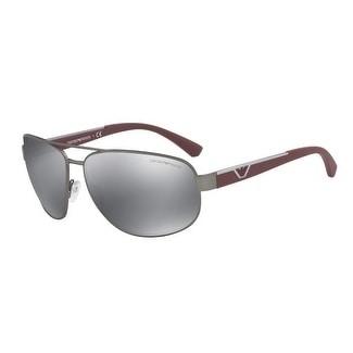 d5bb5a048fb Shop Emporio Armani Aviator Ea2036 31306G Mens Gunmetal Frame Grey Lens  Sunglasses - Free Shipping Today - Overstock.com - 17911049