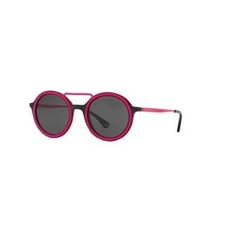 6bc78163d49 Shop Emporio Armani Mens s EA4063 546687 58 Grey Plastic Aviator Sunglasses  - Free Shipping Today - Overstock - 17911061