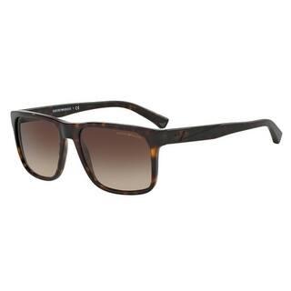 6e939c4f84f0 Emporio Armani Mens s EA4071F 502613 56 Brown Gradient Square Sunglasses