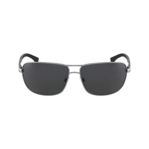 Emporio Armani Rectangle Ea2033 313087 Mens Gunmetal Frame Grey Lens Sunglasses