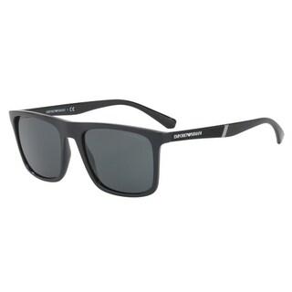 Emporio Armani Mens's EA4097 501787 56 Grey Square Sunglasses
