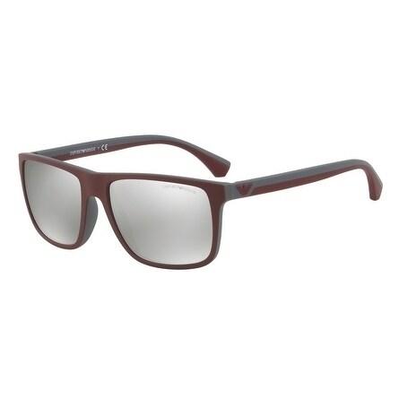 c91971608df Shop Emporio Armani Square Ea4033 56166G Mens Purple Frame Grey Lens  Sunglasses - Free Shipping Today - Overstock - 17911099