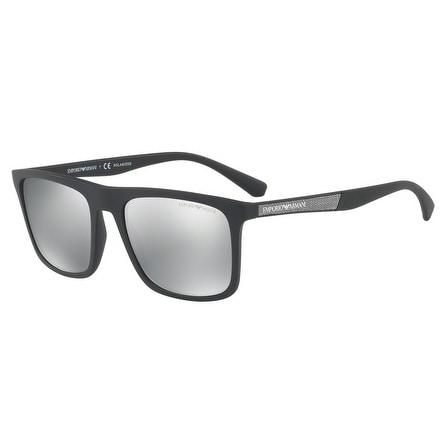 8f1483ab8b1 Shop Emporio Armani Square Ea4097 5042Z3 Mens Black Frame Grey Lens  Sunglasses - Free Shipping Today - Overstock - 17911138