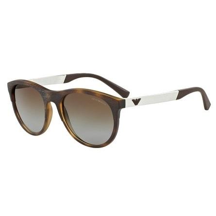 ee422725416 Shop Emporio Armani Aviator Ea4084 5089T5 Mens Havana Frame Brown Lens  Sunglasses - Free Shipping Today - Overstock - 17911162