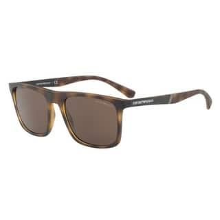 22a1329ca71e Emporio Armani Mens s EA4097F 508973 58 Bronw Square Sunglasses - Brown