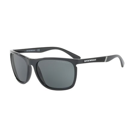 457fe4e1e78c Shop Emporio Armani Rectangle Ea4107 501787 Mens Black Frame Grey Lens  Sunglasses - Free Shipping Today - Overstock.com - 17911192