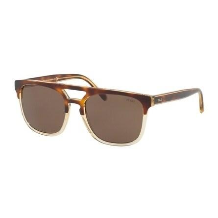 6449419f442e Shop Polo Square Ph4125 563773 Mens Havana Frame Brown Lens Sunglasses -  Free Shipping Today - Overstock.com - 17911208