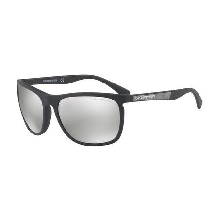 c9aa7b0e028 Shop Emporio Armani Rectangle Ea4107 50426G Mens Black Frame Grey Lens  Sunglasses - Free Shipping Today - Overstock.com - 17911209