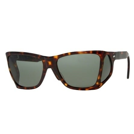 64dff9858ee05 Shop Persol Oversized Po0009 24 31 Mens Havana Frame Green Lens Sunglasses  - Free Shipping Today - Overstock - 17911286