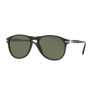 Persol Mens's PO6649S 95/58 55 Green Polarized Aviator Sunglasses