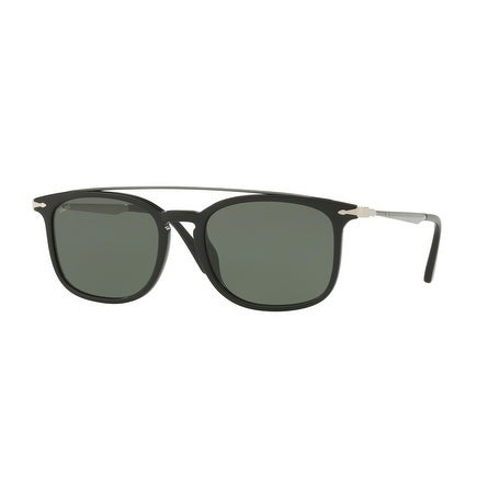5ef1736954 Shop Persol Rectangle Po3173S 95 31 Mens Black Frame Green Lens Sunglasses  - Free Shipping Today - Overstock.com - 17911298