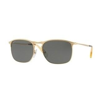 Persol Aviator Po7359S 106958 Mens Gold Frame Green Lens Sunglasses