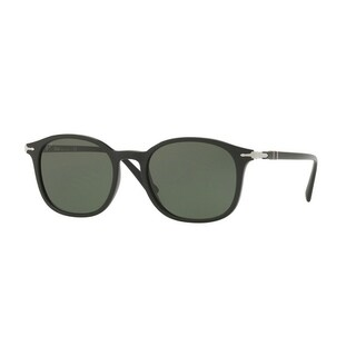 Persol Mens's PO3182S 104131 51 Green Plastic Rectangle Sunglasses