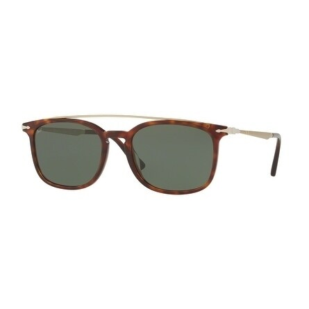 2140077c309 Shop Persol Rectangle Po3173S 24 31 Mens Havana Frame Green Lens Sunglasses  - Free Shipping Today - Overstock.com - 17911316