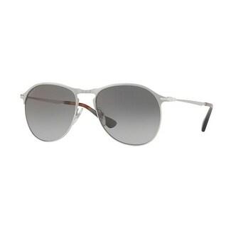 beca411214e6 Shop Persol Aviator Po7649S 1068M3 Mens Silver Frame Green Lens Sunglasses  - Free Shipping Today - Overstock.com - 17911319