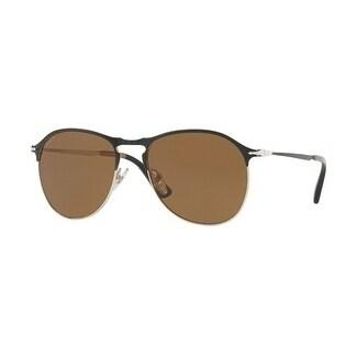 Persol Aviator Po7649S 107057 Mens Black Frame Brown Lens Sunglasses