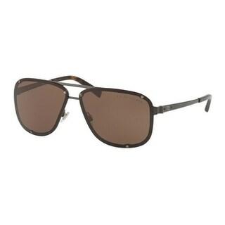 Ralph Lauren Mens's RL7055 915773 64 Brown Metal Aviator Sunglasses