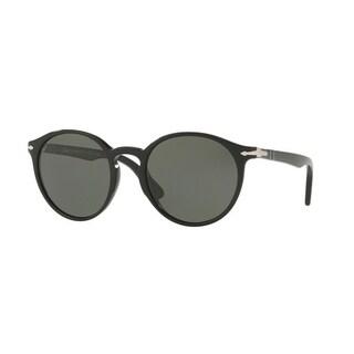 Persol Mens's PO3171S 95/58 52 Crystal Green Polarized Plastic Rectangle Sunglasses