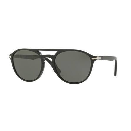 f8bde7035f Persol Mens s PO3170S 901458 55 Polar Green Plastic Rectangle Sunglasses