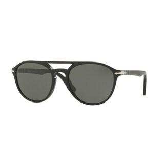 Persol Mens's PO3170S 901458 55 Polar Green Plastic Rectangle Sunglasses