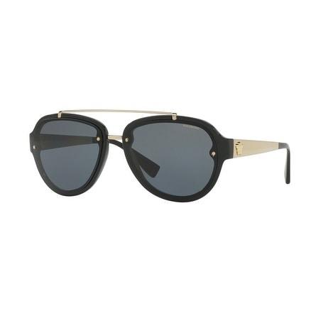 99049f6866026 Shop Versace Aviator Ve4327 Gb1 81 Mens Black Frame Grey Lens Sunglasses -  Free Shipping Today - Overstock - 17911358