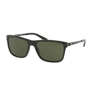 Ralph Lauren Mens's RL8155 500171 57 Dark Green Metal Square Sunglasses
