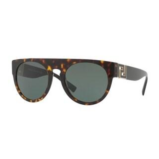 Versace Mens's VE4333 108/71 55 Grey Green Plastic Round Sunglasses