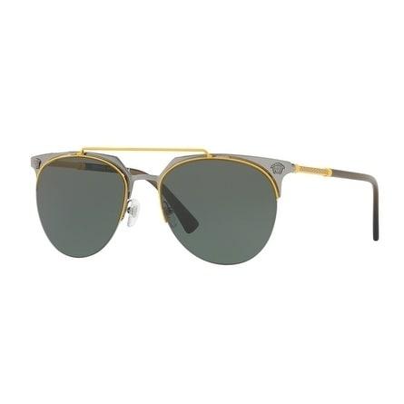 666382ed15ba2 Versace Aviator Ve2181 100171 Mens Yellow Frame Green Lens Sunglasses
