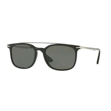 7023778a08 Shop Persol Rectangle Po3173S 95 58 Mens Black Frame Green Lens Sunglasses  - Free Shipping Today - Overstock.com - 17911377