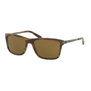 Ralph Lauren Mens's RL8155 501773 57 Olive Green Metal Square Sunglasses