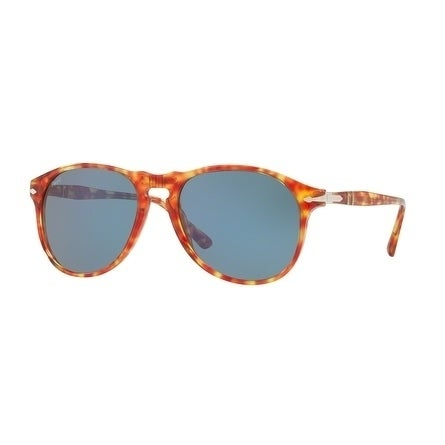 2dfd70ec4bd1 Shop Persol Aviator Po6649S 106056 Mens Red Frame Blue Lens Sunglasses -  Free Shipping Today - Overstock - 17911384