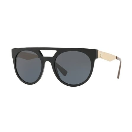 7596ff5107 Shop Versace Round Ve4339 524887 Mens Black Frame Grey Lens Sunglasses -  Free Shipping Today - Overstock - 17911398