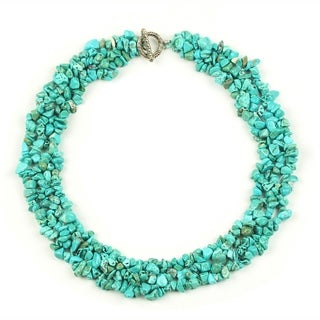 Eye Candy LA Turquoise Collar Statement Necklace